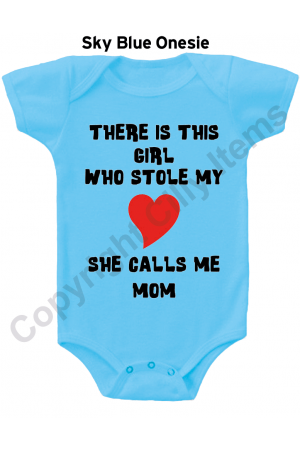There is this girl who stole my heart CUTE Baby Onesie