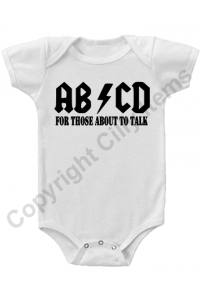 ABCD For Those About To Talk Funny Gerber Baby Onesie