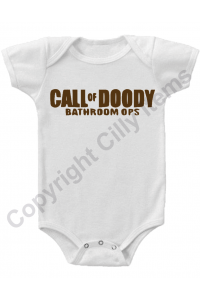 Call of Doody Bathroom Ops Funny Gerber Baby Onesie