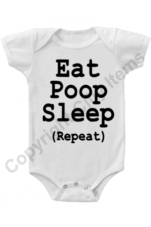 Eat Sleep Poop Repeat Funny Gerber Baby Onesie