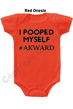 I Pooped Myself Akward Funny Gerber Baby Onesie
