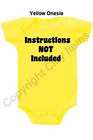 Instructions Not Included Funny Baby Onesie