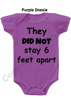 They Did Not Stay 6 Feet Apart Funny Gerber Baby Onesie