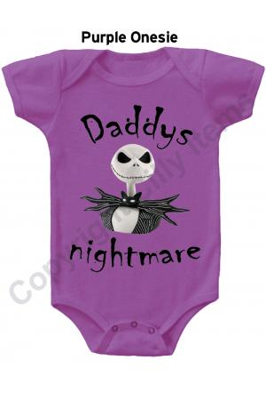 Daddys Nightmare Jack Skellington Gerber Baby Onesie