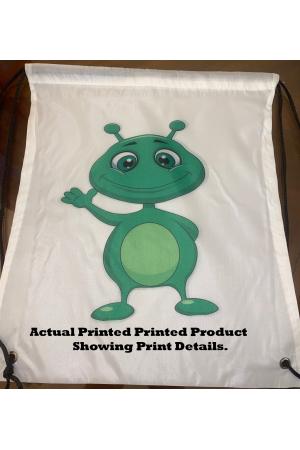 Personalized Nylon Custom Drawstring Backpack